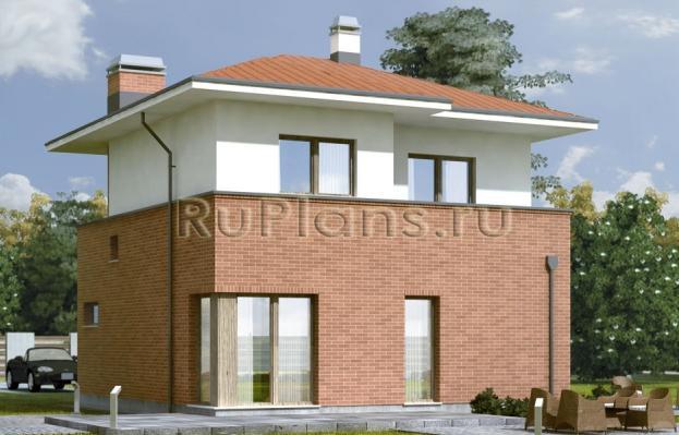 Проект двухэтажного дома R243