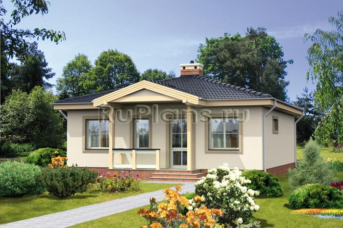 Проект одноэтажного дома R19101