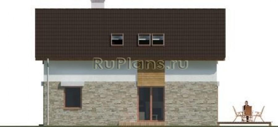 Проект дома с гаражом в классическом стиле R1386