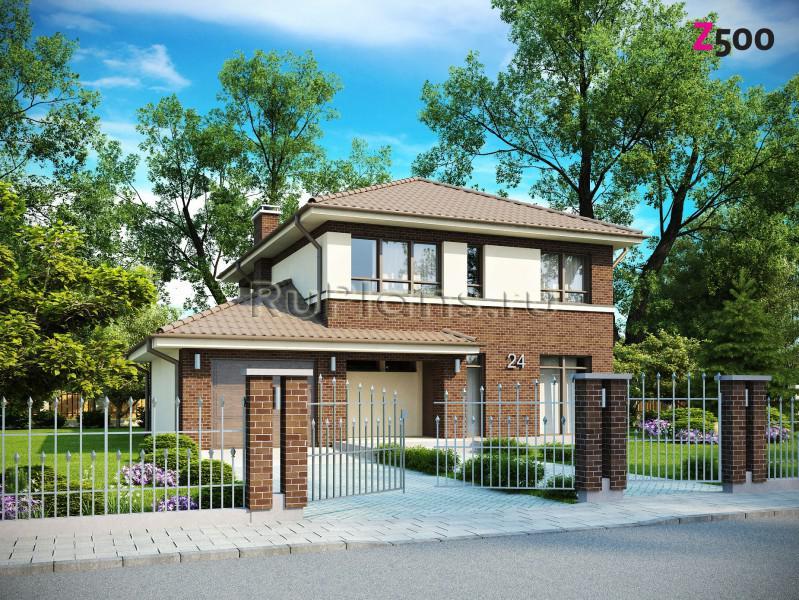 Проект двухэтажного дома в строгом стиле Rz1319