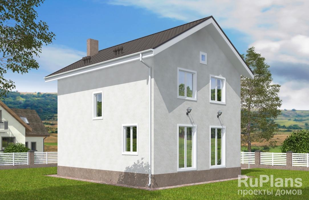 Двухэтажный дом с балконом Rg5155