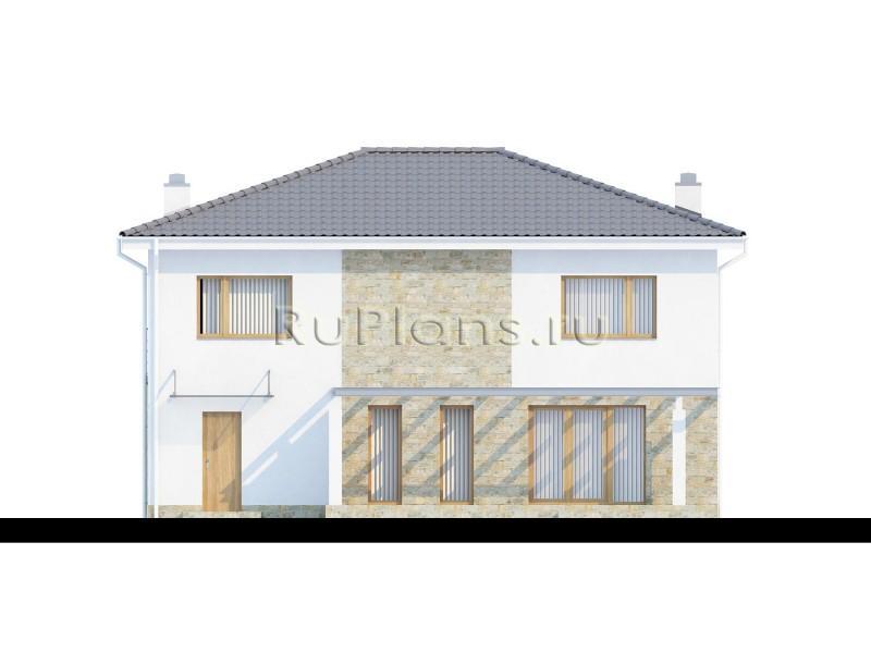 Проект дома с современной архитектурой Rz1339 (Zx4)