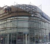 """Монтаж вентилируемого фасада из индивидуальных композитных панелей """"АКП"""""""