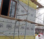 Монтаж вентилируемого фасада с утеплением в 100мм