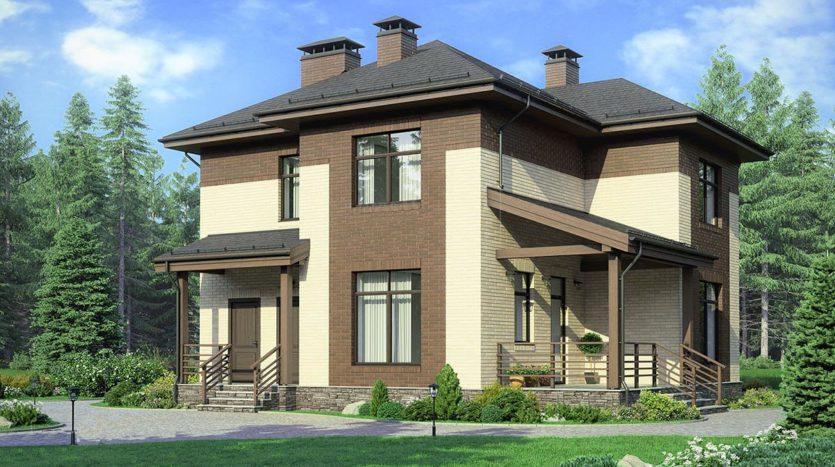 Двухэтажный дом А19020