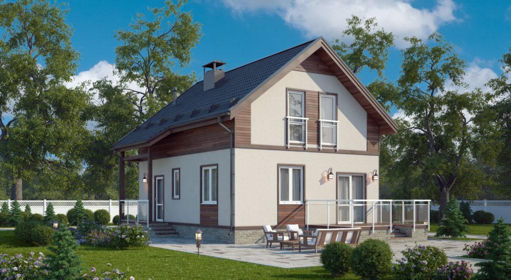 Двухэтажный дом (мансарда) А19031
