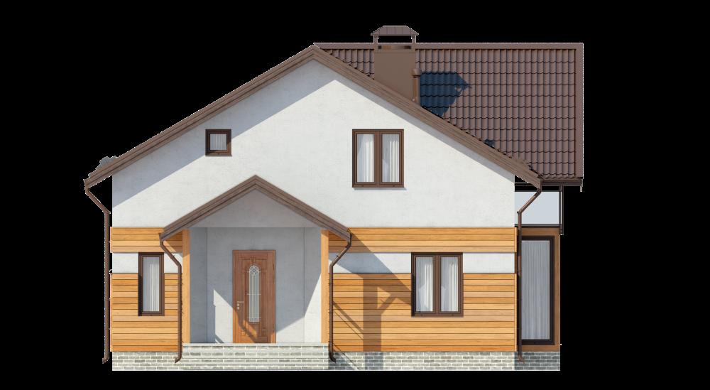Двухэтажный мансардный дом А19024