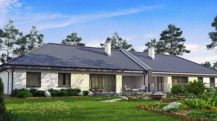 Одноэтажный дом для двух семей А19021