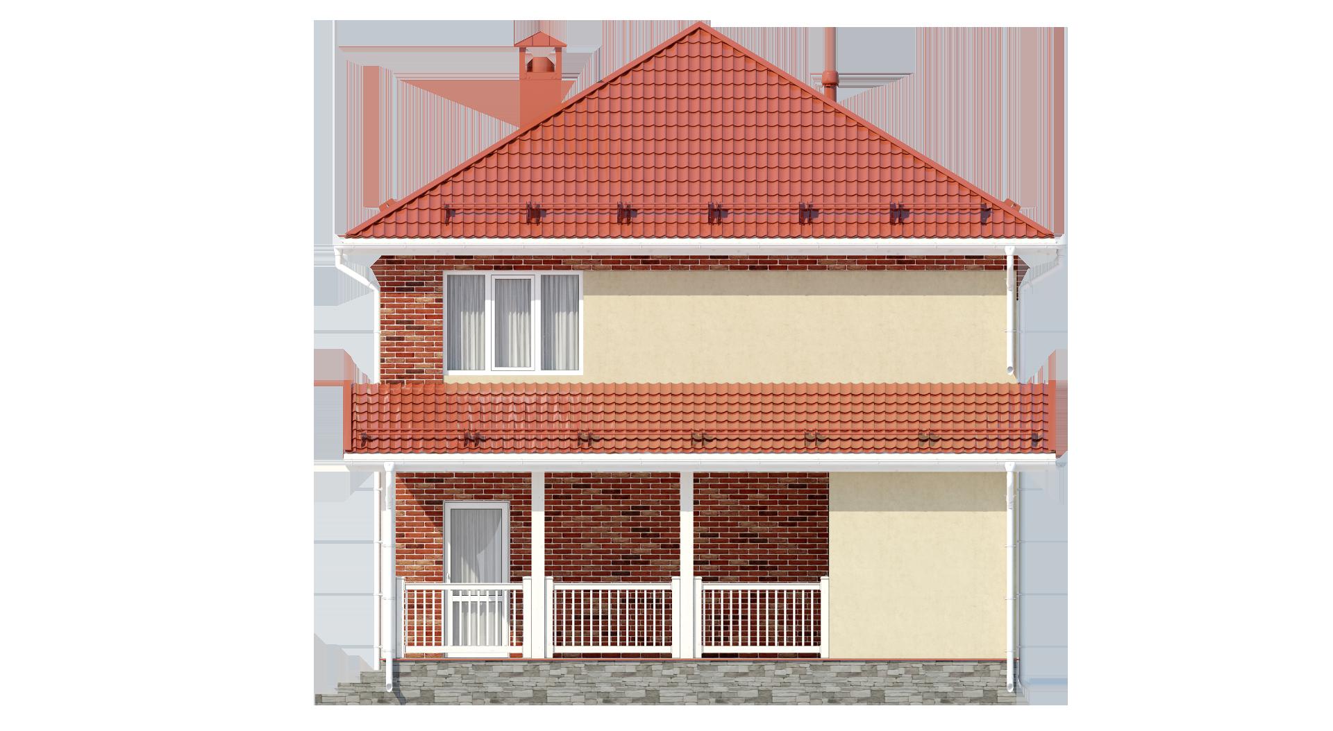 Двухэтажный дом А19025