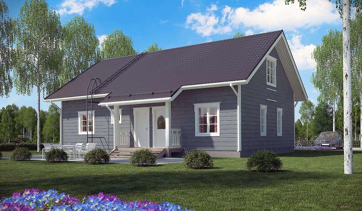 Классический двухэтажный дом А19019