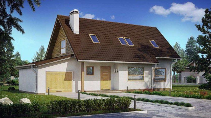 Двухэтажный дом с гаражом А19018