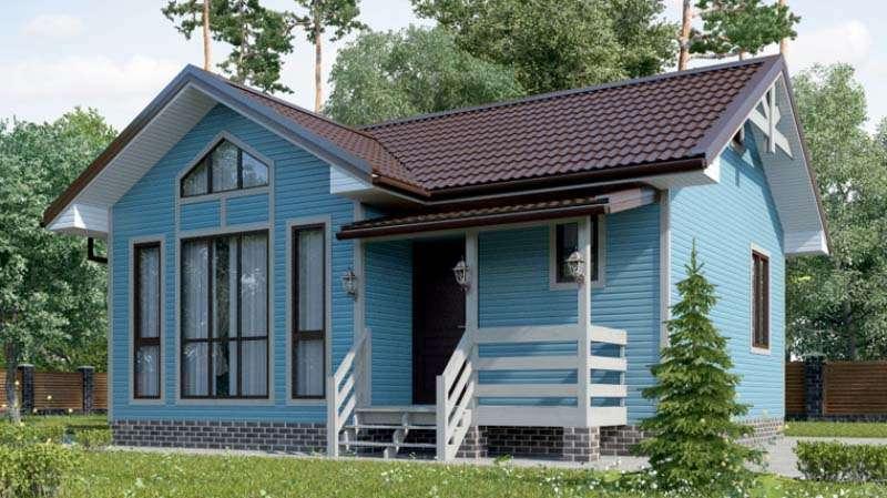 Дом со вторым светом и небольшой террасой А19004