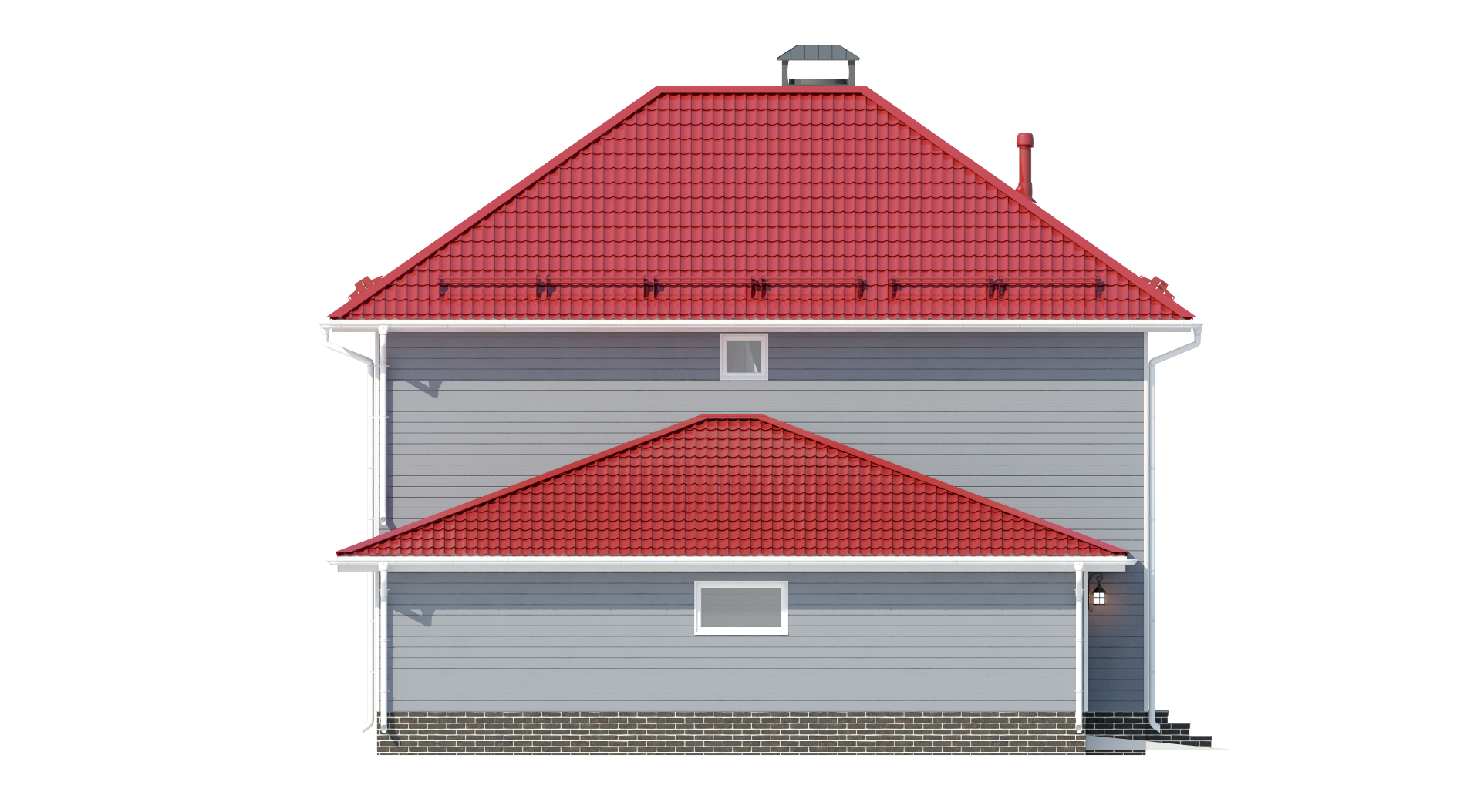 Двухэтажный дом с гаражом А19030