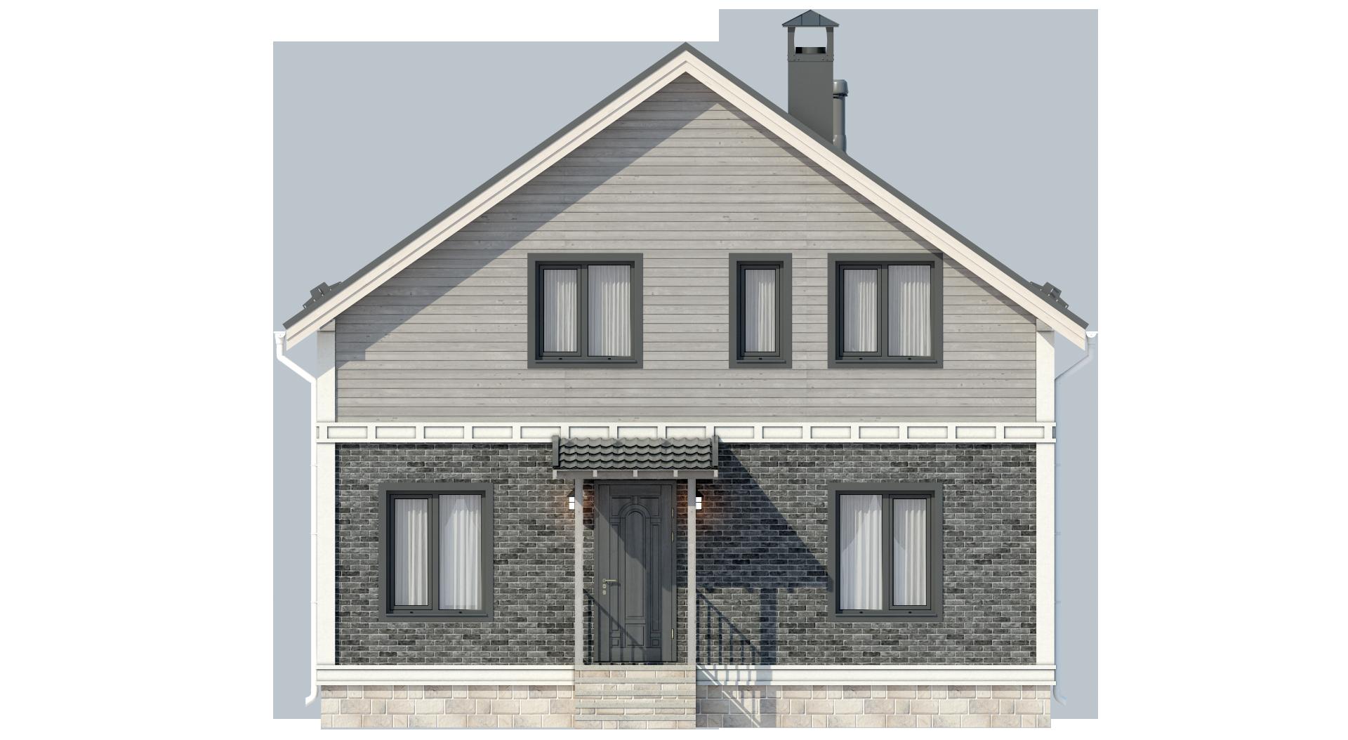 Классический двухэтажный дом А19028