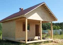 Каркасный дом одноэтажный с верандой 7,5х5,0
