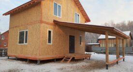 Двухэтажный дом с навесом СНТ Урожай